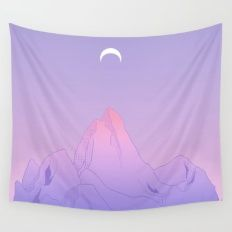 Wall Tapestry featuring Soft Moon by LIONESS