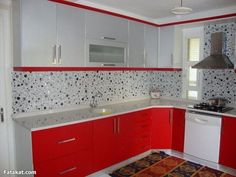 How Japanese Interior Layout Could Boost Your Dwelling 31 Amazing Colorful Kitchen Design Ideas Kitchen Cupboard Designs, Kitchen Room Design, Kitchen Cabinet Styles, Modern Kitchen Design, Interior Design Kitchen, Kitchen Decor, Kitchen Ideas, Red And White Kitchen Cabinets, Kitchen Cabinets Color Combination