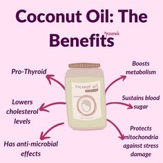 ✔️🥥Coconut oil is different to other fats. It consists of medium chain triglycerides (MCT) which digest differently than other fats. Short-and medium-chain fatty acids sustain blood sugar and protect mitochondria against stress damage. . ✔️Coconut oil is pro thyroid. When consumed regularly in the diet, it helps to lower cholesterol levels by promoting its conversion into pregnenolone.