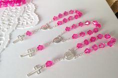 25 pc baptism favors hot pink acrylic beads/ by WEDDINGLASSOS
