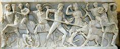 Sarcófago con escena de caza del jabalí de Calidonia, Museos Capitolinos, Roma