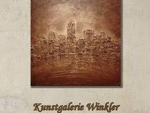 Gemälde Abstrakt Acrylbilder Leinwand Unikat 60x60  http://de.dawanda.com/shop/A-Winkler