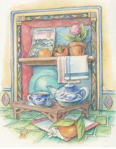 Kim Jacob's Tea Tray