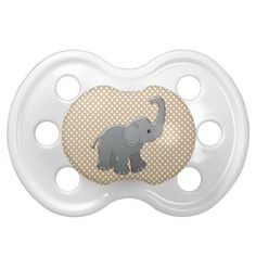 brown baby shower elephant pacifiers
