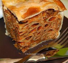Mouthwatering Vegan Timpana – the Ultimate Naughty Pasta Pie  RECIPE: http://mouthwateringvegan.com/2013/04/23/mouthwatering-vegan-timpana-the-ultimate-naughty-pasta-pie/