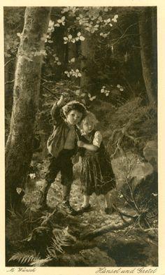 Hänsel und Gretel im Wald, Marie Wunsch, Verlag Hermann A. Wiechmann München