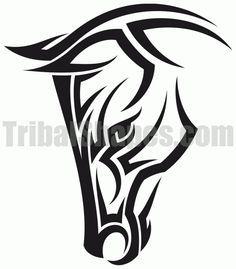Tribal Horse Tattoo on Pinterest | Horse Tattoos, Celtic Horse ...