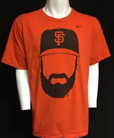San Francisco Giants Fear The Beard Nike XXL Short Sleeve Tee T-Shirt 2XL #sfgiants #Nike #SanFranciscoGiants