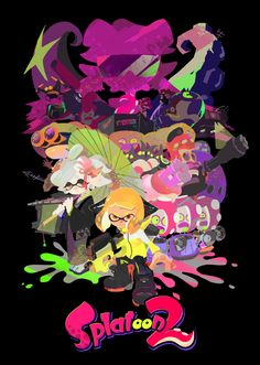 Splatoon 2 story mode poster Callie?! No! I think the octarians brainwashed her or she joined them...? I can wait for this, I finally got the switch on the weekend....Splatoon 2 coming out in 07/21/17..............