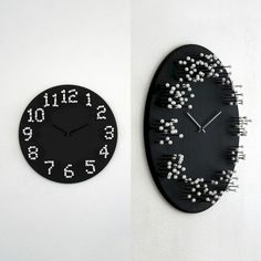 when standing in front of the 'mocap wall clock' by j. meulendijks, its numbers are clear and visible, but walk around it and you'll notice that they slowly dissolve, falling apart in a vague white fuzz Big Wall Clocks, Cool Clocks, Clock Wall, Unusual Clocks, Decoration Bedroom, Diy Wall Decor, Home Decor, Art Decor, Decor Ideas