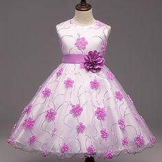 c30fe356c717 Vestido Chica de Noche Floral Poliéster Sin Mangas Verano Floral Morado Rosa  2018 -  16.01 Vestiti