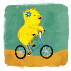 Little chick on a bicycle Copyright: Federico Conti Picamus