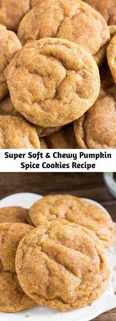 Pumpkin Spice Cookie Recipe, Pumpkin Recipes, Fall Recipes, Sweet Recipes, Holiday Recipes, Cookie Recipes, Baking Recipes, Dessert Recipes, Cookie Monster Pumpkin