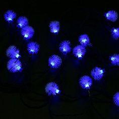 Blue Snowflake-4.8M 20LED-Solar Powered