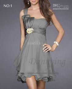 Wholesale Plus Size One Shoulder Ladies Party Evening Bridesmaid Cocktail dress AU/UK SZ, Free shipping, $62.5/Piece | DHgate