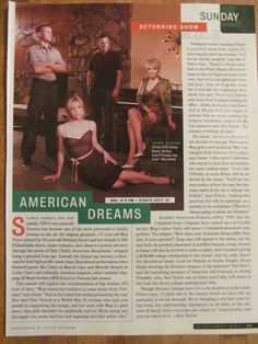 American Dreams: Huge Mistake cancelling this show. It was pure Gold. They were at the top of their game in Season 3. Will Estes was simply brilliant in his betrayal of a Vietnam Soldier. I hope one day they realize the magic of this show and either release all the seasons or Netflix picks it up so everyone can enjoy this beautiful show