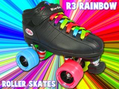 love the very colorful wheels and laces ♥