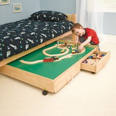 Superbe Unbranded Underbed Playtable With Trundle Drawers