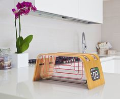 The latest from James Stumpf, this series of appliances (toaster, mixer, and blender) utilizes sustainable and unconventional materials to make each not only more eco-friendly but