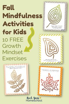 Free & Simple Fall Mindfulness Activities for Kids Mindfulness activities are wonderful way to help your kids learn & practice growth mindset skills. These free printable exercises give your kids hands-on ways to calm, control, & practice affirmations. Elementary Counseling, Counseling Activities, Art Therapy Activities, Autumn Activities, Kids Printable Activities, Primary Education, Mindfulness For Kids, Mindfulness Activities, Mindfulness Practice