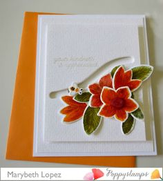 Interactive Bumble Bee card. Memorybox and Poppystamps  Marybeth Lopez