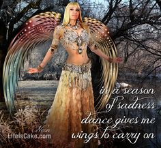 """...In a season of sadness, dance gives me wings to carry on""... Neon for Life Is Cake; 'Swan Maiden' costume by Elsa Leandros of Totally Creative NY. #Neon #bellydance #bellydancer #bellydancing #belly #dance #dancing #dancer  #costume   Dance instruction - Neon - video / DVD / iPhone, iPad Apps:  http://www.Neonissima.com  http://www.WorldDanceNewYork.com"