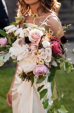 Saipua cascading rose bouquet: #bouquet #pink: www.saipua.com