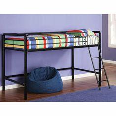 Dorel - Junior Metal Loft Bed, Black