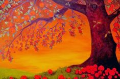 """Under the Old Apple Tree"" Fine Art Print by Kim Rhoney."