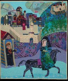 Cinderella Making Her Getaway by Pamela Allen. Art Quilt.