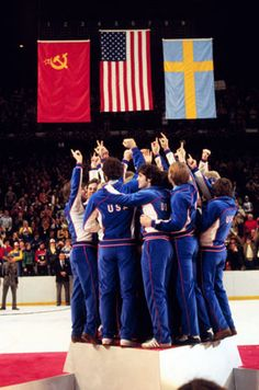 """1980 U.S. Olympic hockey team. College kids with a dream and the American Spirit.  """"Anything is possible if you believe in Miracles."""""""