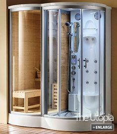 Ooh, the Utopia steam shower and sauna combo from DiVapor