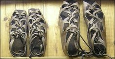 ancient romans wore sandals and boots made from leather and wood  - Google Search