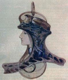 Art Nouveau jewelry sketch by René Lalique   JV