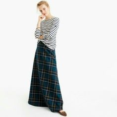 Collection maxi skirt in tartan FW 2016