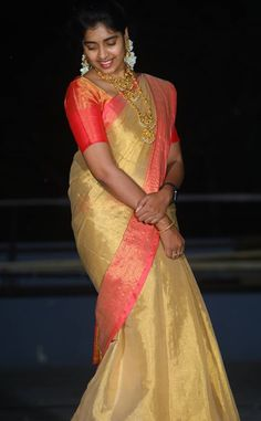 Stylish Girl Images, Beautiful Women Pictures, Beautiful Asian Women, Cute Beauty, Beauty Full Girl, Beauty Women, Blouse Designs High Neck, Tamil Girls, Gold Jewelry