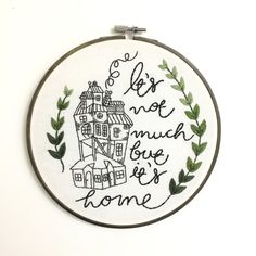 The Burrow Harry Potter Quote Embroidery by LarkRisingEmbroidery