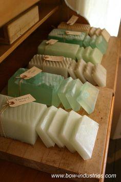 Green sea-glass like natural soap