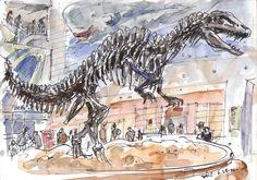 Urban Sketchers: some sketches at Seodaemun Museum of Natural History, Seoul