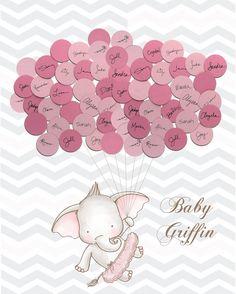 Bebé ducha invitado libro elefante TUTU por SayAnythingDesign
