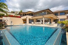 On over 5,000 square feet of precious waterfront property with crashing waves as a soundtrack and the vast Pacific Ocean as a backdrop, awaits the stunning swimming pool of 268 Puuikena Drive.