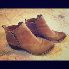 Lucky Brand Basel Zip Booties Has been worn maybe 5 times. Lucky Brand Shoes Ankle Boots & Booties