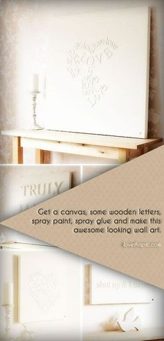 DIY Letter Canvas Pictures, Photos, and Images for Facebook, Tumblr, Pinterest, and Twitter