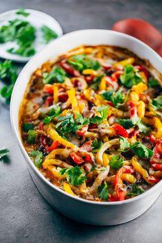 Easy Mexican Chicken Quinoa Casserole - simple healthy real food ingredients!