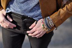 Hook wrap bracelet worn by @eat.sleep.wear. #gileslovesbloggers
