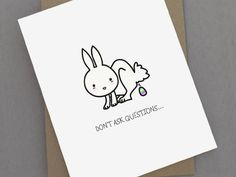 18 Funniest Easter Cards to Send to Your Friends Easter Bunny, Easter Eggs, Seasons, Funny, Cards, Gifts, Card Ideas, Gift Ideas, Laughter