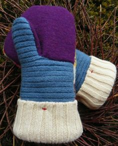 wool mittens from sweaters pattern sewing