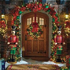Christmas Decorations Holiday Decor Frontgate Entryway Door