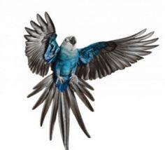 ararinha azul (só já existe em cativeiro)