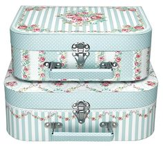 GreenGate Suitcase Lovebirds Mint